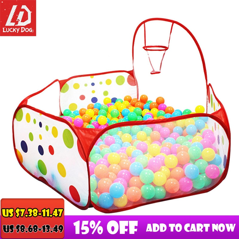 Ball Pool with Basket Children Toy Ocean Ball Pit Baby Playpen Tent Outdoor Toys for Children Ballenbak - Baby World Inc