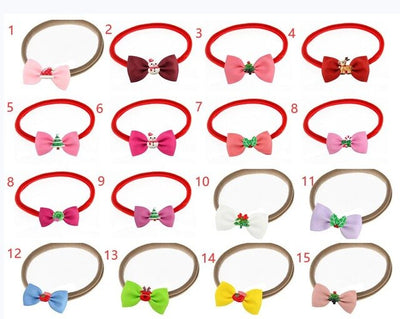 Christmas gift  mini 2inch bowknot children hair accessories  princess Christmas  girl side  Nylon headbands - Baby World Inc
