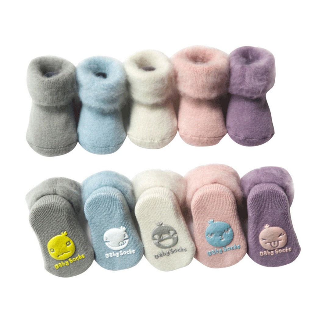 Winter Thick Baby Socks Warm Newborn Cotton Boys Girls Cute Toddler Socks Baby Accessories - Baby World Inc