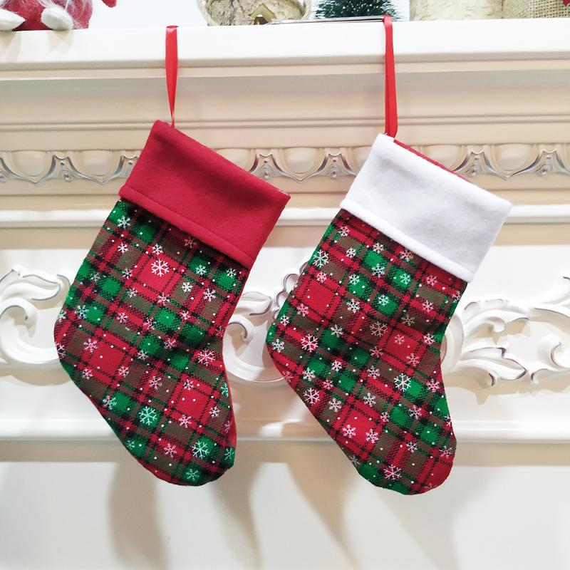 Kids Christmas Sock Santa Claus Xmas Socks Tree Ornaments Snowflake lattice Socks Baby Boy Girl Winter New 2019 - Baby World Inc