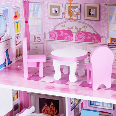 "28"" Pink Dollhouse w/ Furniture C119 - Baby World Inc"
