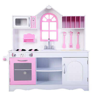 Wood Toy Kitchen Kids Cooking Pretend Play Set C138 - Baby World Inc