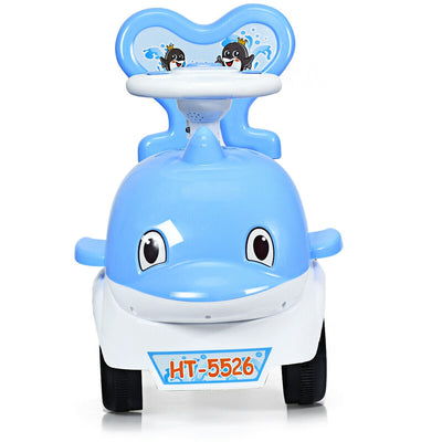 3-in-1 Baby Walker Sliding Car Pushing Cart Toddler Ride-Blue C200 - Baby World Inc