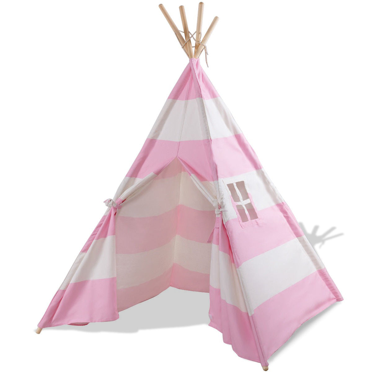 5' White & Pink Portable Indian Sleeping Dome Tent C61 - Baby World Inc