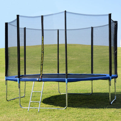 14 ft Trampoline w/ Safety Enclosure Net, Spring Pad & Ladder C92 - Baby World Inc