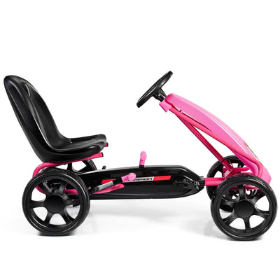 Kids Ride On Toys Pedal Powered Go Kart Pedal Car-Pink C300 - Baby World Inc