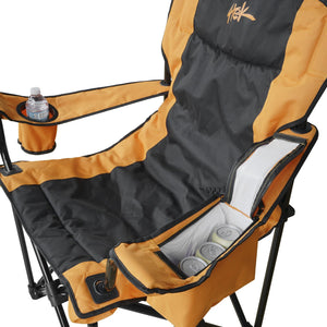 Pair of Two Heated Outdoor Folding Camping & Lawn Chairs