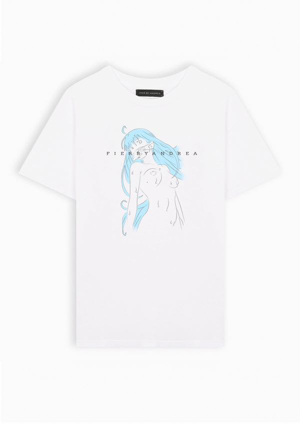 Japanese Blue lady Tee