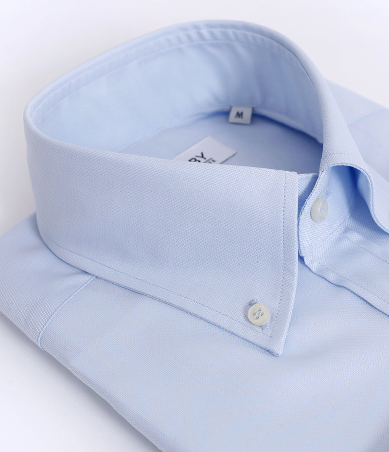 Camisa JULES Royal Oxford Azul Cielo 100's Twisted