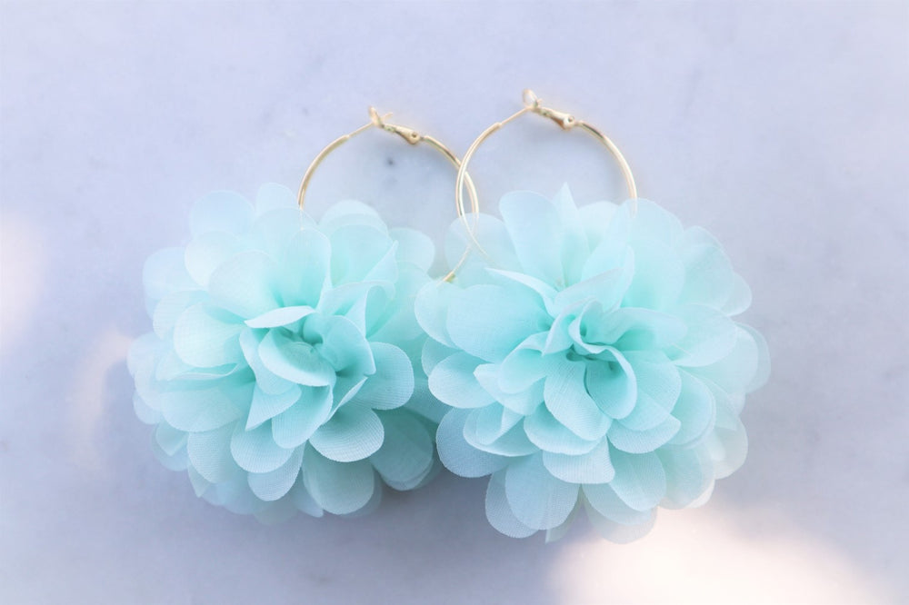 Mint flower hoops