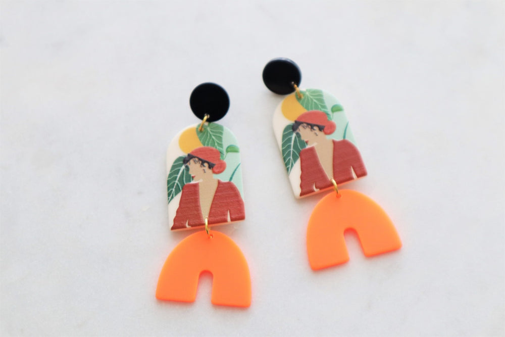Boho statement earrings