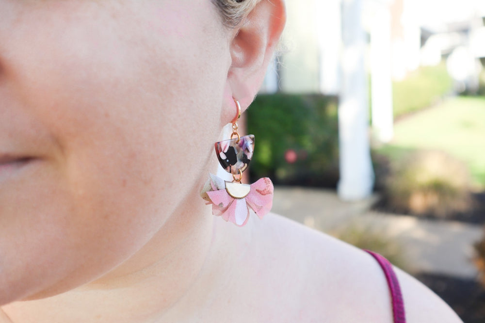 Fall-inspired flower earrings