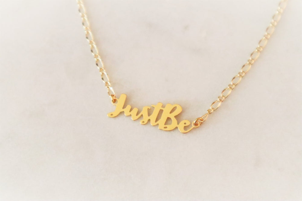 PRE-ORDER | Just Be 18K gold plated brass necklace