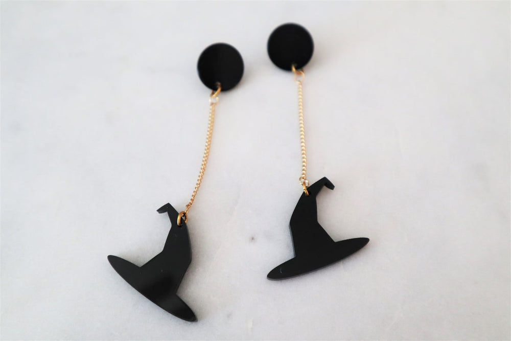 Witch hat earrings