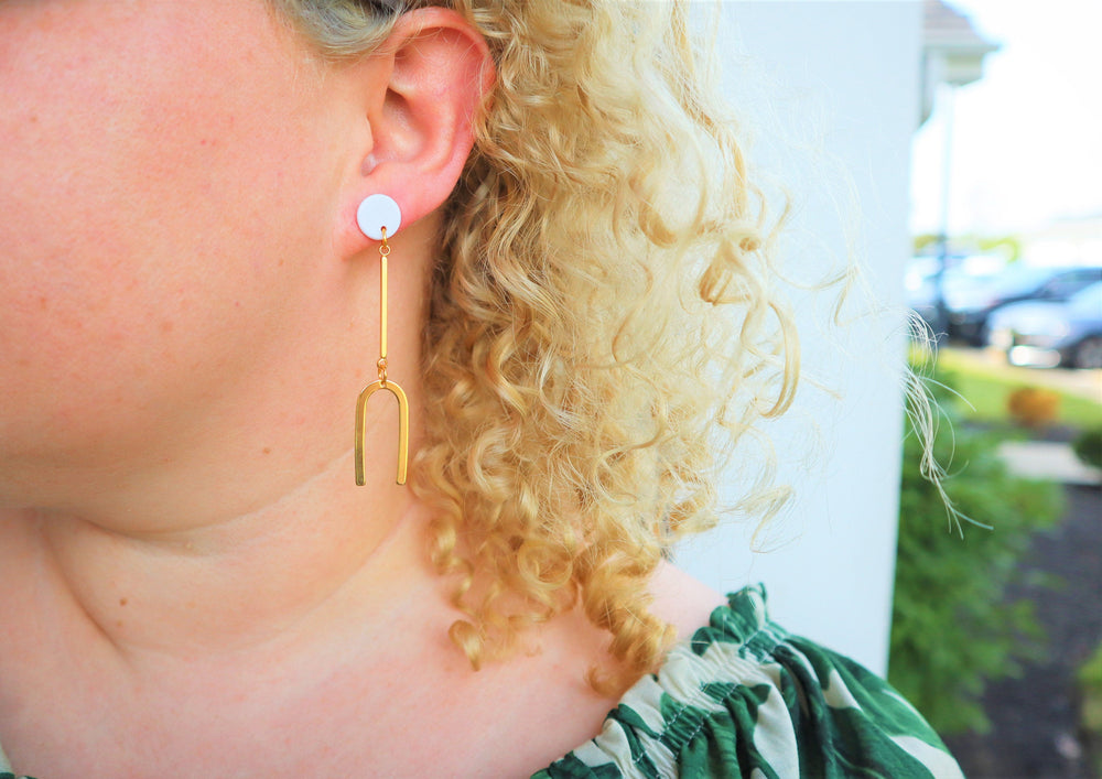 Golden U Earrings