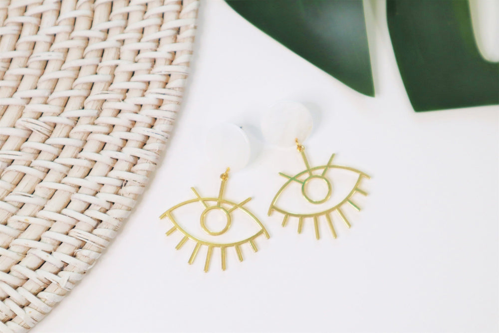 Eye statement earrings
