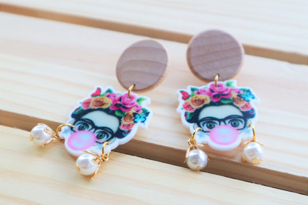 Feminist statement earrings