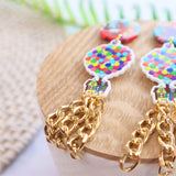 Balloon statement earring