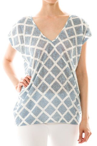 Diamond Pattern Knit Top - Front