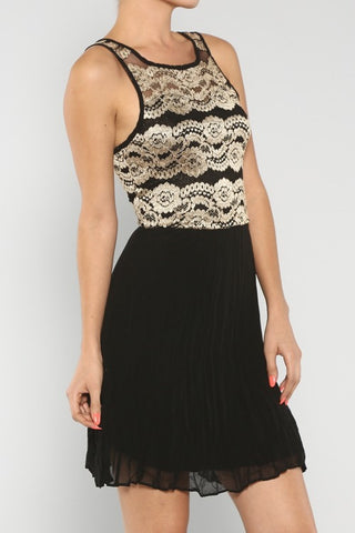 Lace & Solid Bottom Dress