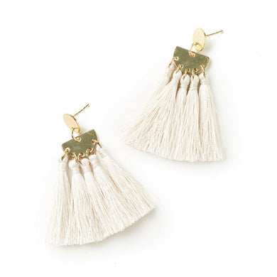 Lush pearl thread earrings