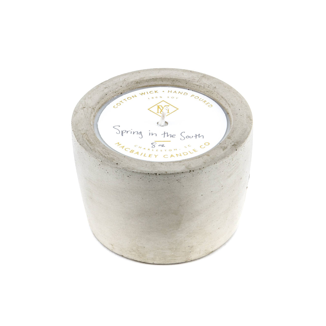 Spring in the South Concrete Candle- 8oz.