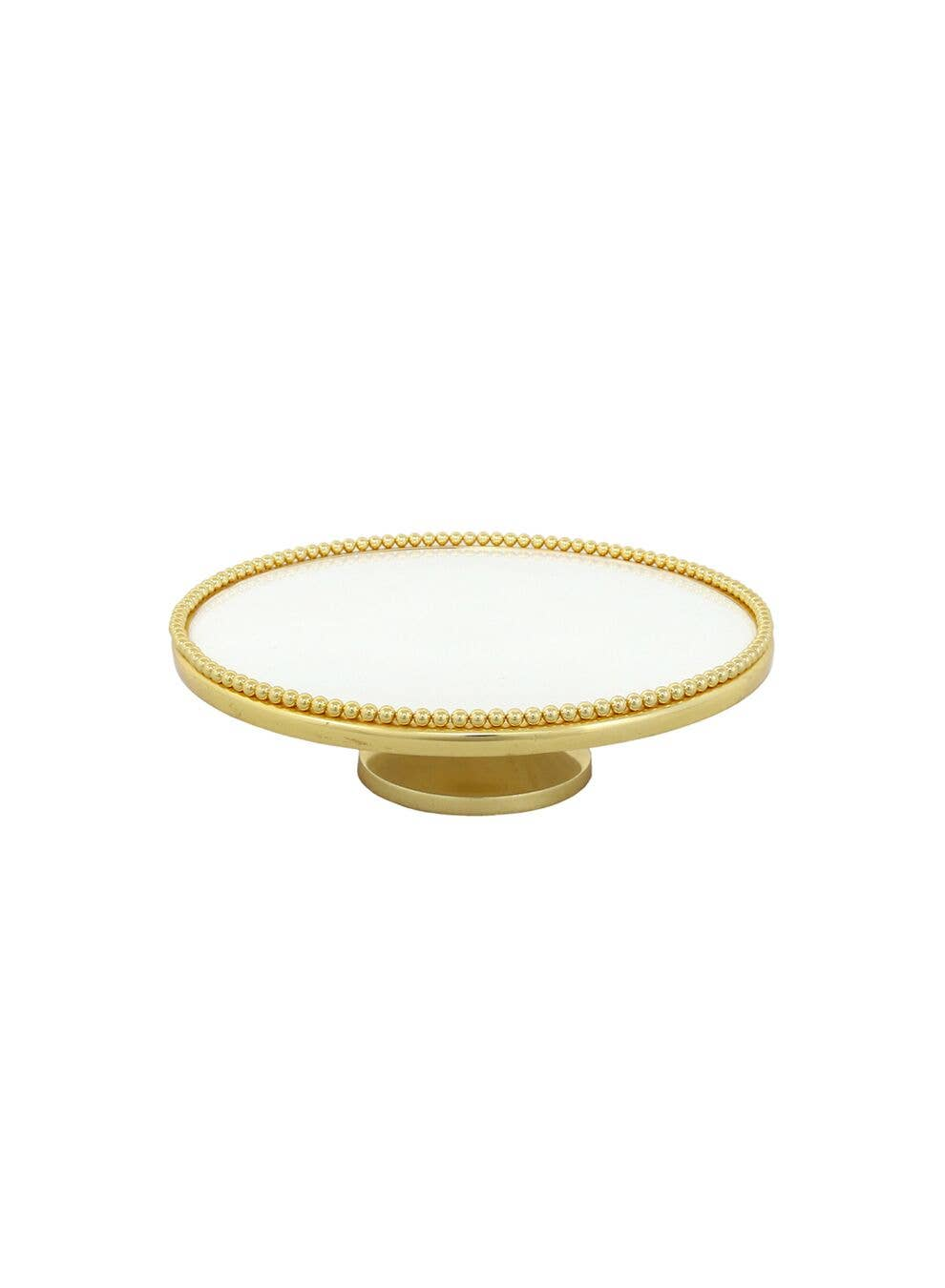 Cake Plate in White & Gold