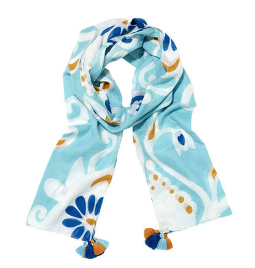 Ikat Damask in Blue