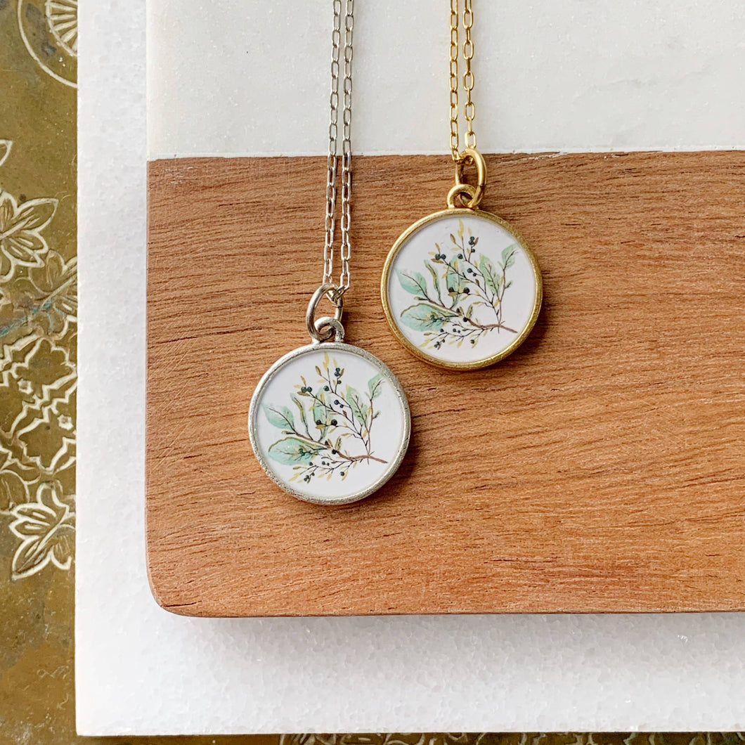 Olive Branch Necklace