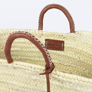 Honolulu Straw Basket with Leather Tassel