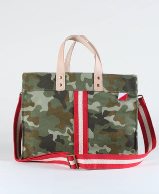 Mini Canvas Box Tote- Camo