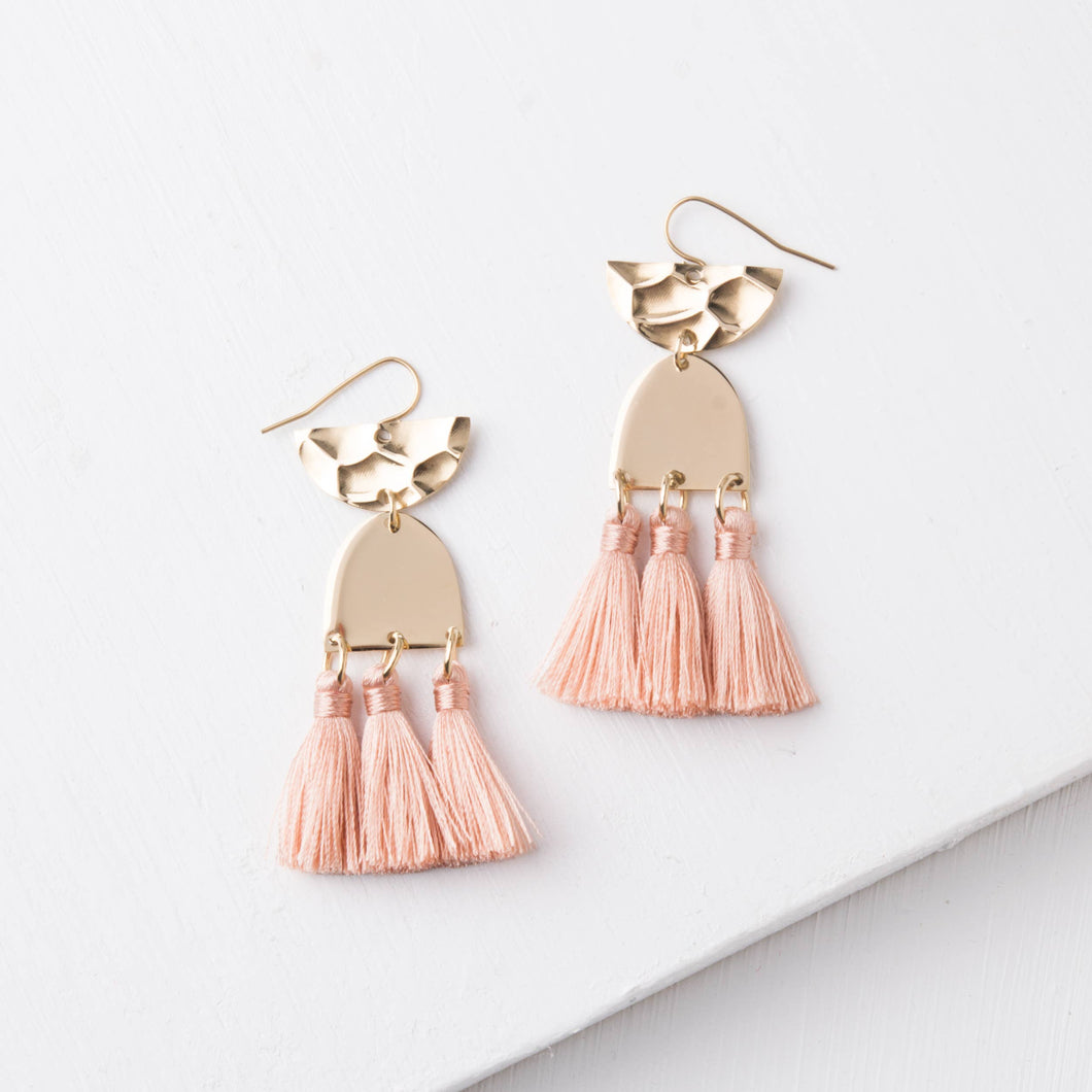 Amelia Blush Tassel Earrings