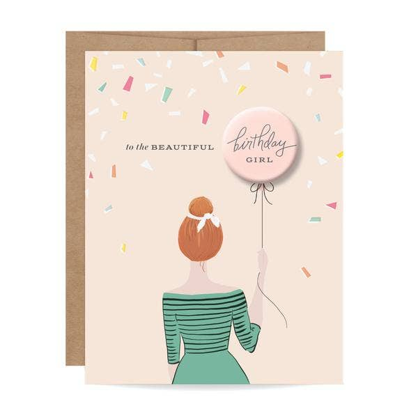 Birthday Card with Button
