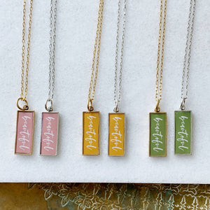 Beautiful Tag Necklace