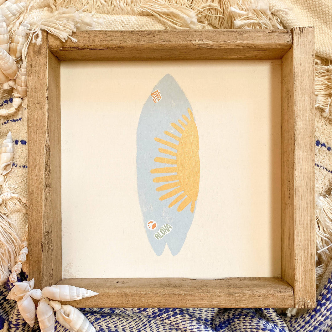 Surf Board Wooden Sign
