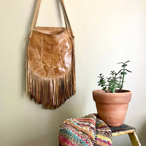 Bernice Leather Crossbody w/Fringe