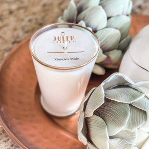 Glass julep candles