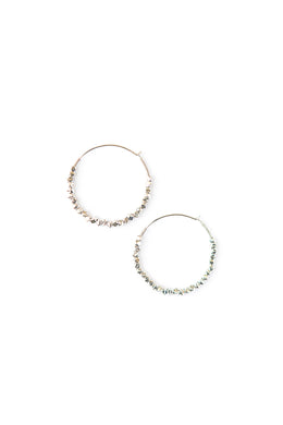 Silver fair trade hoop earrings