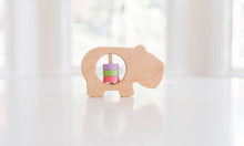 Load image into Gallery viewer, Wooden Hippo Rattle