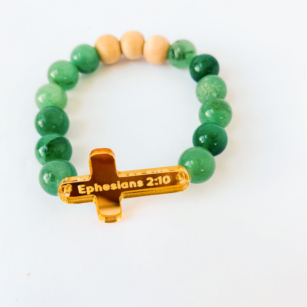 Beaded Cross Bracelet- Ephesians 2:10