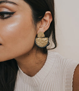 Jayanti Indigo Thread Earrings
