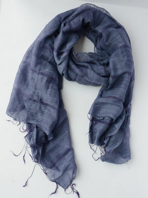 Lieu Loose Weave Scarf-Purple