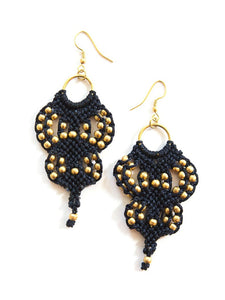 Majestic Macrame Beaded Earrings