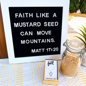 Faith Triangle Mustard Seed Necklace