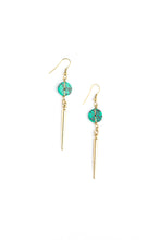 Load image into Gallery viewer, Pointed Charm Turquoise Earrings