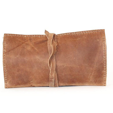Sabina Leather Clutch Wallet Stone