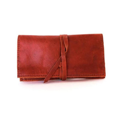 Sabina Leather Clutch Wallet Persimmon