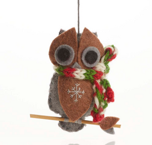 Gray Owl Ornament