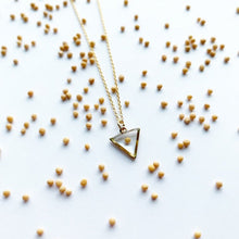 Load image into Gallery viewer, Faith Triangle Mustard Seed Necklace