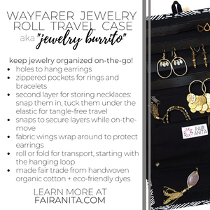 Wayfarer Jewelry Roll Travel Case